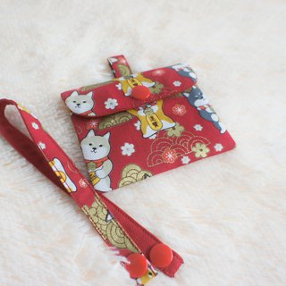 Dog to Fu pet special red bag necklace bag