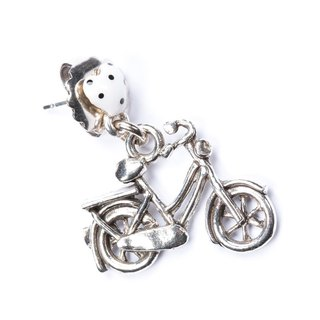 【Paris, France TARATATA】 bicycle earrings