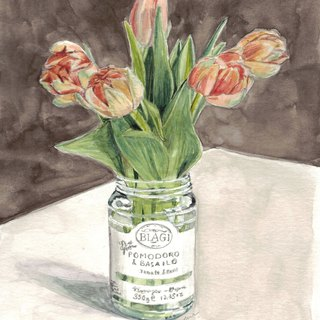 Original Watercolour Painting (A5) - Tulips