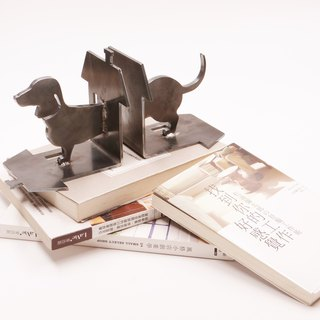 Metal book block dachshund dog home decoration