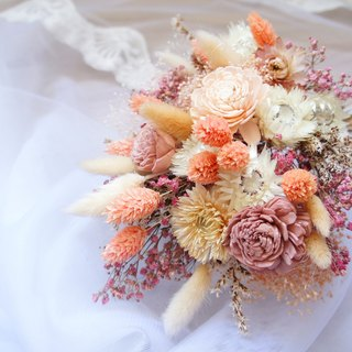 Hand made dry flower wedding flower decoration ~ starlight princess sweet wind hand tied bridal bouquet / bouquet / wall decoration ~