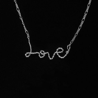 Winwing metal braided necklace - [LOVE]