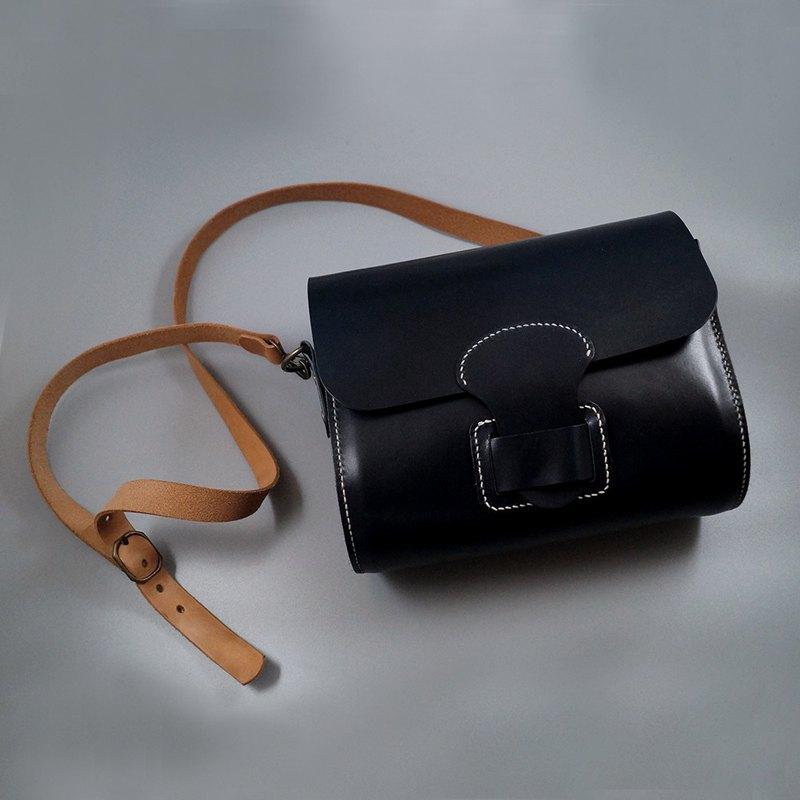 復古單肩/斜揹皮革馬鞍包II。手縫皮革材料包。BSP119