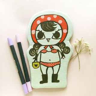 Handmade Hand paint swimsuit Namly pencil case beauty bag storge bag