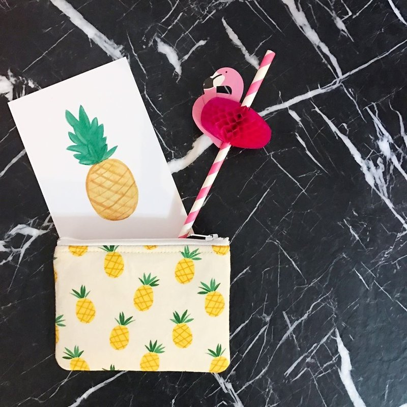 Handmade Miami Style Pineapple Coins Bag