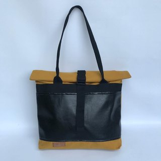 Yellow roll tote