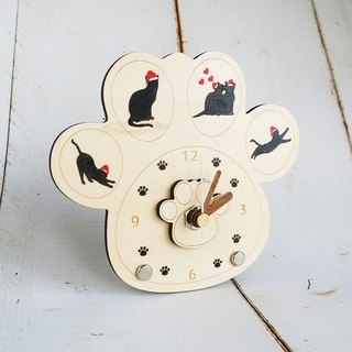Christmas cats meat ball clock