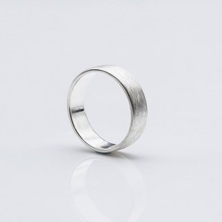 Brushed Silver Sterling Silver Ring S (Single)