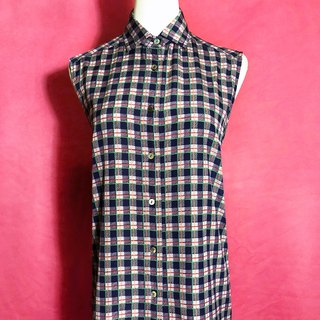 Plaid Sleeveless Vintage Shirt / Bring back VINTAGE abroad