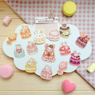 Styling sticker pack - Macarons Rabbit (2018 revised version listed)