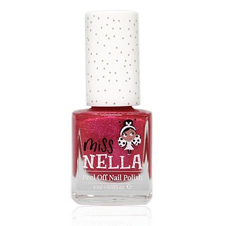 British [Miss Nella] children's water-based tear-proof safety nail polish - sparkling pink (MN10)