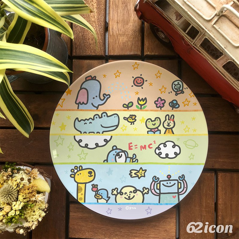 P714-Character Convergence-8 Bone Porcelain Plate