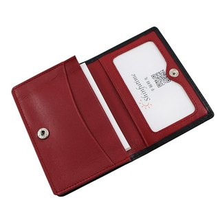 LAPELI │ mixed color card holder black / red