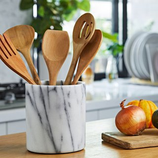Natural marble kitchen bucket [European] style matte (glove barrel / spatula chopsticks cutlery storage containers / flower arranging home furnishings)