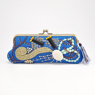 Sparkle and statement glasses and pen case, blue purse, one of a kind,  No,1