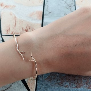 Brass Bracelet 1114 - Branch