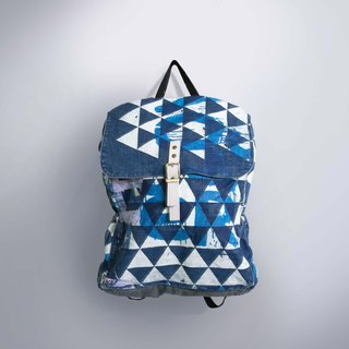 Zipper rear backpack triangle