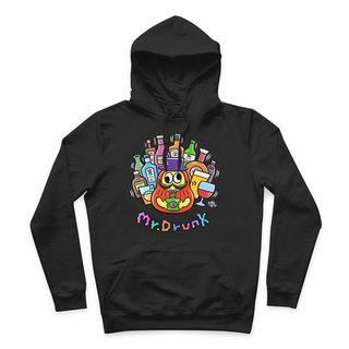 Mr.DRUNK- Black - Hooded T-Shirt