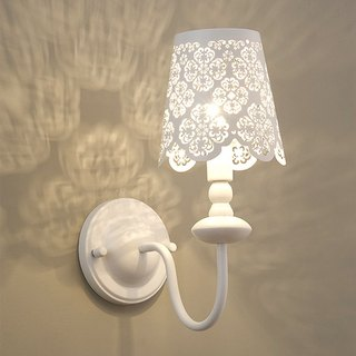 European wind metal paint carved wall lamp-LS-7201-4
