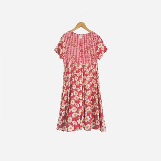 Dislocation vintage / three-dimensional woven flower dress no.847 vintage