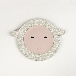 Sheep Waterproof and Water Absorbent Coaster , PU Leather and Wool Felt