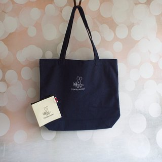 Honeywood Navy Blue Canvas Bag + Coin Purse Christmas Gift Bag