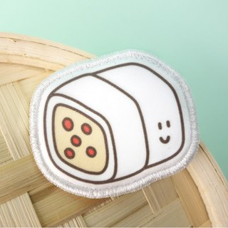 Snack Series - (rice roll) fabric brooch / badge (BDS07)