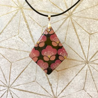 Pink Plum Blossoms Pendant, Japanese style