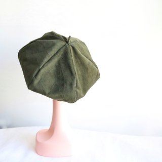 Army green handmade double-sided hexagonal hat painter hat
