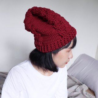 RedCheeks Wool Hat Cap | Yarn Hat | - Red Color - หมวกไหมพรม