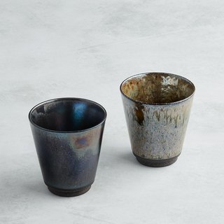 There is a kind of creativity - Japan Meinong - Tianchuan Streaming Pottery Cup Group (2 pieces)