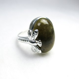 READ Dazzling Ready to Fly | Sterling Silver Ring Labradorite 925 Sterling Silver Handmade