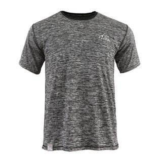 Tools NAKEDT Mixed Yarn Short Sleeve TEE :: Black:: Comfortable:: Casual