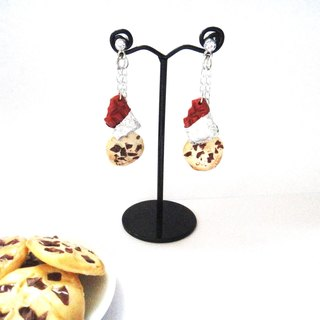 Earrings: Chocolate Cookies