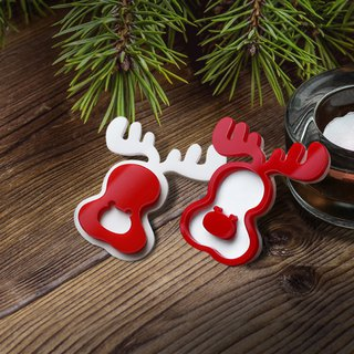 X'mas Christmas Santa elk brooch pin Exchange gifts