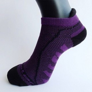 MIT Bamboo Carbon with Breathable Cushion Antiskid Sport Socks _ Purple 2 into the group