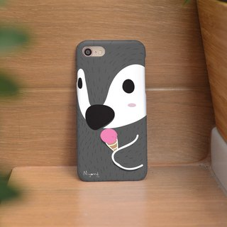 dark gray cute penguin iphone case สำหรับ iphone7 iphone8 iphone8 plus iphone x