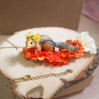 【Animal Party Series】Squirrel in the garden Necklace