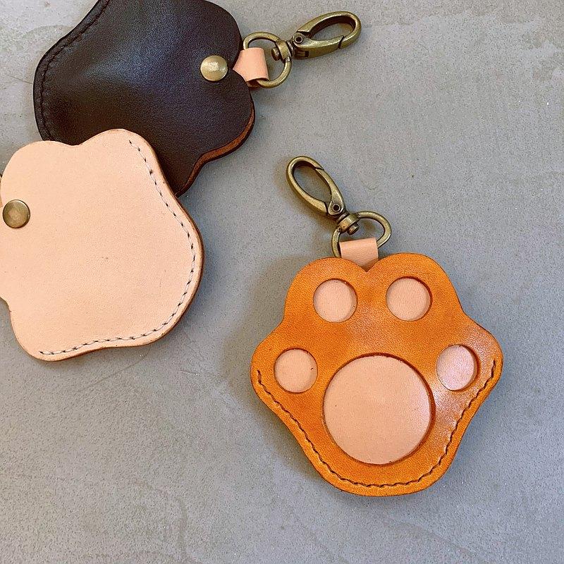【喵吉】貓掌 GOGORO皮套 _黃棕色 鑰匙包 鑰匙圈 免費刻字 免運
