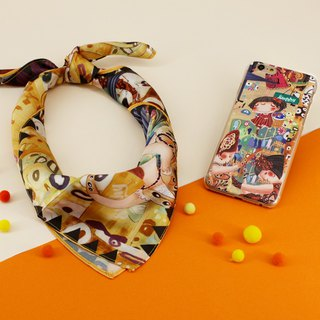 [Customizable] Scarf phone case with dancing suit S--SET043-BL