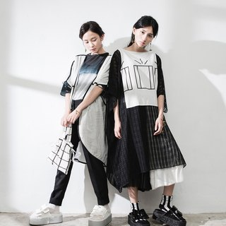 JUBY CHIU / non-black or white five fold wide pants