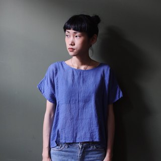 OMAKE Select Short Board Summer Four-Piece Opened Cotton Top Blue Purple