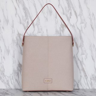 Light Grey Suedette Faux Leather Shoulder Bag