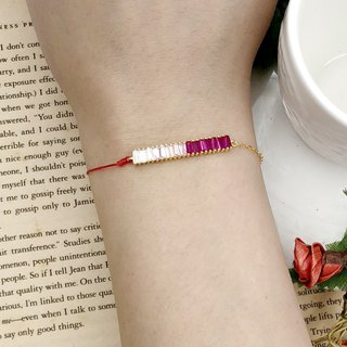 925 sterling silver gold plated grading row half line half chain red line bracelet temperament noble gold chain