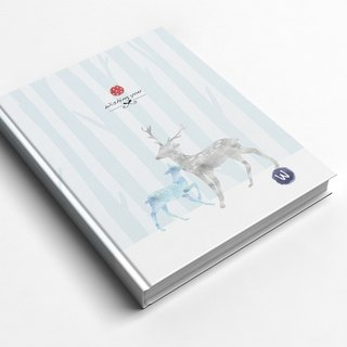 ☆ ° Rococo Strawberries WELKIN Handicrafts Handbook / Notebook / Hand / Diary - Striped Deer Forest