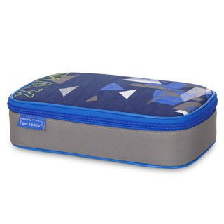 Tiger Family Explorer Simple and Stylish Pencil Box - Blue Triangle