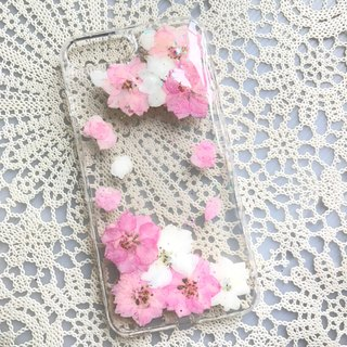 iPhone 7 Dry Pressed Flowers Case Pink Flower case 001