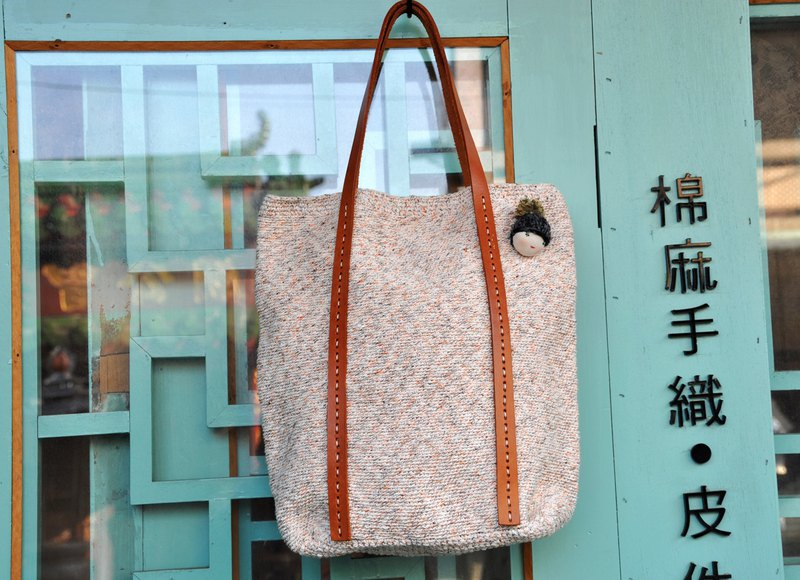 Glancing Ying language - cotton twine hand-crocheted shoulder bag