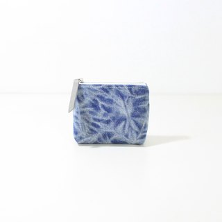 【The MAMA's Closet】Two Colors Denim Cotton (Vintage Look) / Coin Bag ( Pouch )