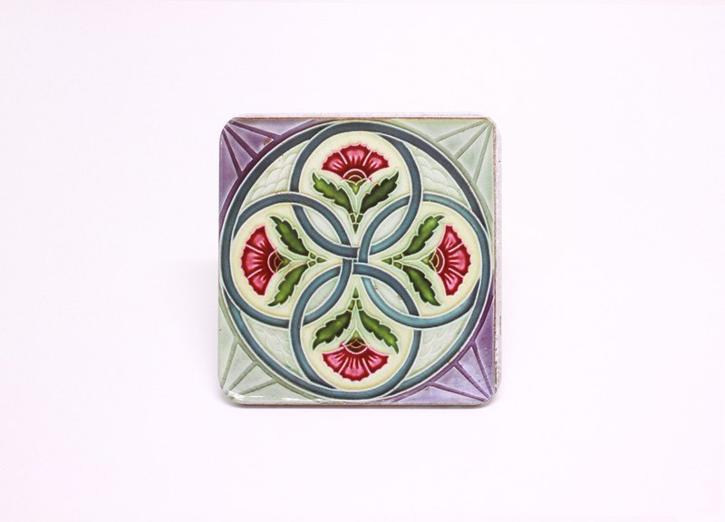 Four Circles of Tiles [Taiwan Impression Square Coaster]